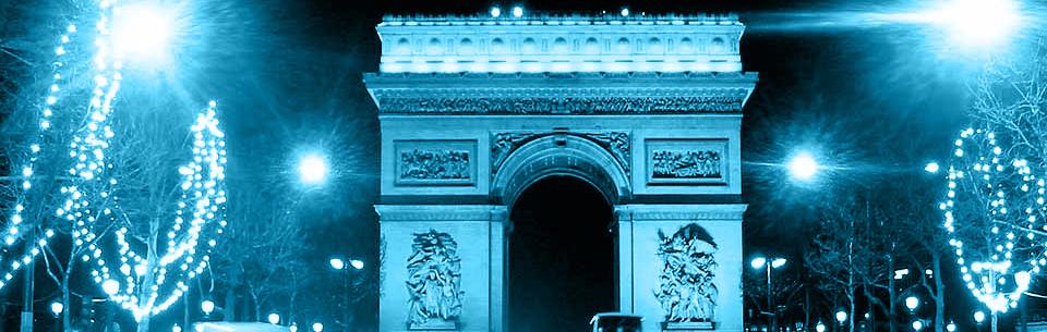 The Champs-Élysées and the Arc de Triomphe Paris